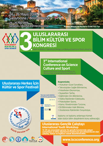 3rd International Conference on Science Culture and Sport Conference Poster