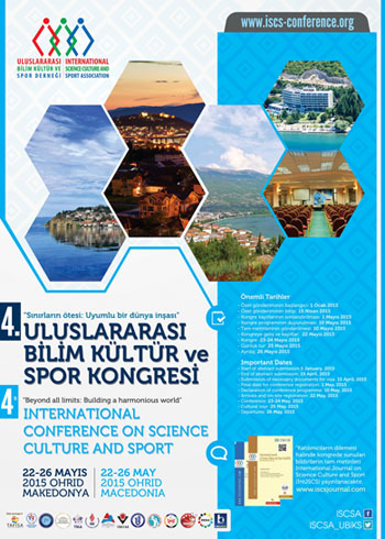 4th International Conference on Science Culture and Sport Conference Afişi